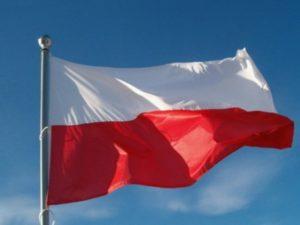 flaga biało-czerwona na amszt